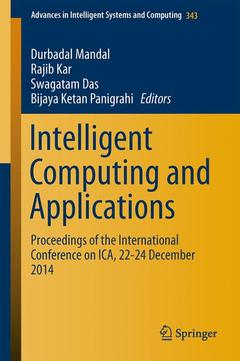 Cover of the book Intelligent Computing and Applications