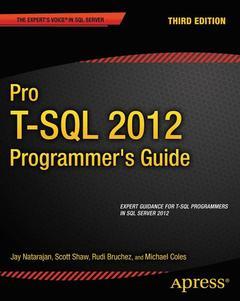 Couverture de l'ouvrage Pro T-SQL 2012 Programmer's Guide