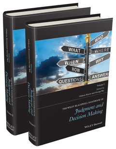 Cover of the book The Wiley-Blackwell Handbook of Judgment and Decision Making, 2 Volume Set