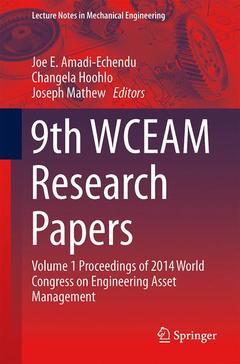 Couverture de l'ouvrage 9th WCEAM Research Papers