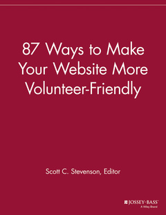 Cover of the book 87 Ways to Make Your Website More Volunteer Friendly
