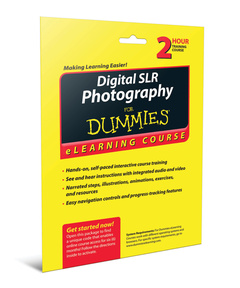 Couverture de l'ouvrage Digital SLR Photography For Dummies eLearning Course Access Code Card (6 Month Subscription)