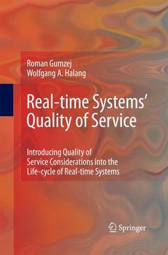 Couverture de l'ouvrage Real-time Systems' Quality of Service
