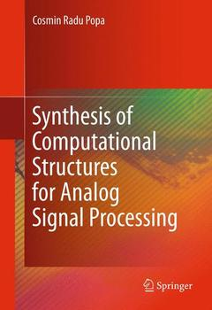 Couverture de l'ouvrage Synthesis of computational structures for analog signal processing