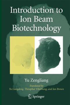 Couverture de l'ouvrage Introduction to ion beam biotechnology