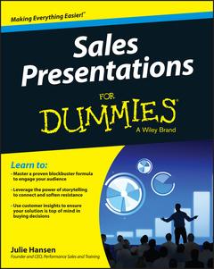 Couverture de l'ouvrage Sales Presentations For Dummies
