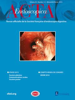 Couverture de l'ouvrage Acta Endoscopica Vol. 45 N° 1-2 - Février 2015