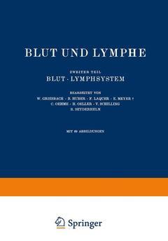 Couverture de l'ouvrage Blut und Lymphe