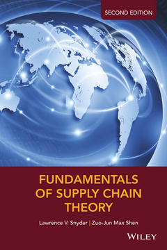 Couverture de l'ouvrage Fundamentals of Supply Chain Theory