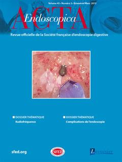 Couverture de l'ouvrage Acta Endoscopica Vol. 45 N° 3 - Mars 2015