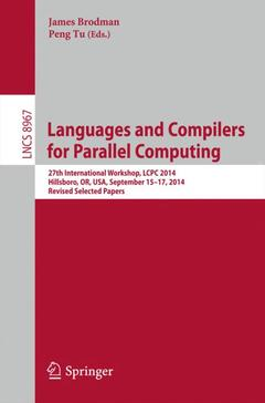 Couverture de l'ouvrage Languages and Compilers for Parallel Computing