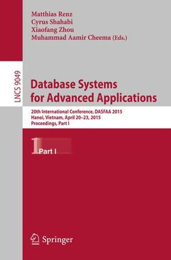 Couverture de l'ouvrage Database Systems for Advanced Applications