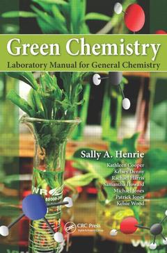 Cover of the book Green Chemistry Laboratory Manual for General Chemistry