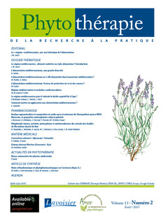 Couverture de l'ouvrage Phytothérapie Vol. 13 N°2 - avril 2015