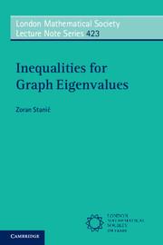 Couverture de l'ouvrage Inequalities for Graph Eigenvalues