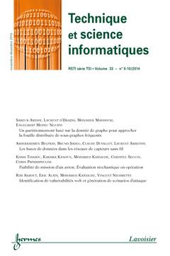 Couverture de l'ouvrage Technique et science informatiques RSTI série TSI Volume 33 N° 9-10/Novembre-Décembre 2014