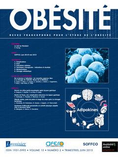 Couverture de l'ouvrage Obésité. Vol. 10 N° 2 - Juin 2015