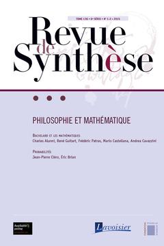 Couverture de l'ouvrage Revue de Synthèse Tome 136 - 6e Série - N° 1-2 -2015