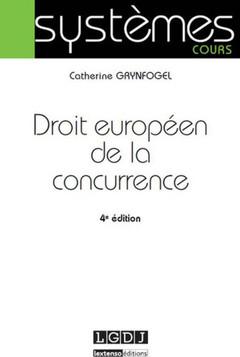 Couverture de l'ouvrage Droit européen de la concurrence