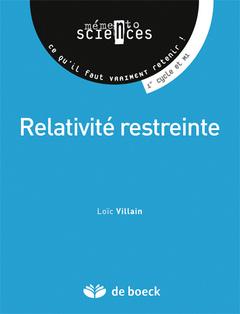 Couverture de l'ouvrage Relativité restreinte