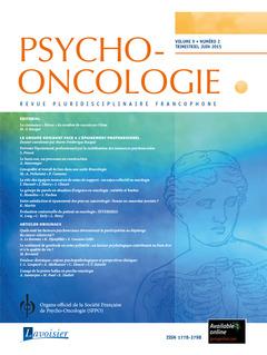 Couverture de l'ouvrage Psycho-Oncologie Vol. 9 N° 2 - juin 2015