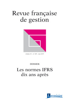 Couverture de l'ouvrage Revue française de gestion Volume 41 N° 249/Mai 2015