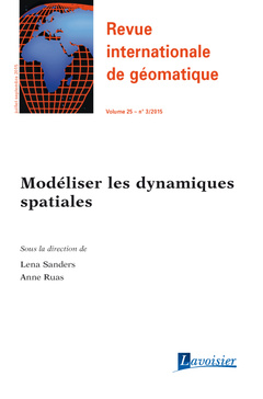 Cover of the book Revue internationale de géomatique Volume 25 N° 3/Juillet-Septembre 2015