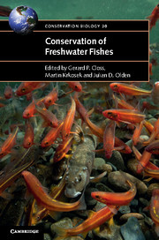 Couverture de l'ouvrage Conservation of Freshwater Fishes
