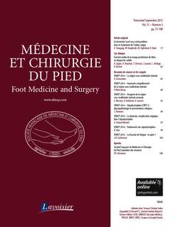 Couverture de l'ouvrage Médecine et chirurgie du pied Vol. 31 N° 3 - Septembre 2015