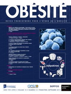 Couverture de l'ouvrage Obésité. Vol. 10 N° 3 - Septembre 2015