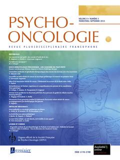 Couverture de l'ouvrage Psycho-Oncologie Vol. 9 N° 3 - septembre 2015
