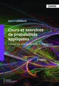 Couverture de l'ouvrage Cours et exercices de probabilités appliquées