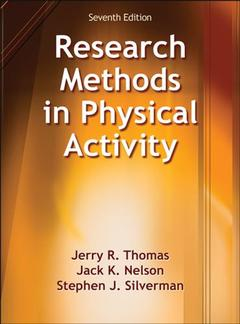 Couverture de l'ouvrage Research Methods in Physical Activity (7th Edition)