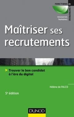 Couverture de l'ouvrage Maîtriser ses recrutements (5e Éd.)