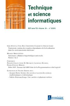 Couverture de l'ouvrage Technique et science informatiques RSTI série TSI Volume 34 N° 3/Mai-Juin 2015