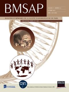 Couverture de l'ouvrage BMSAP Vol. 27 N° 3-4  Octobre 2015