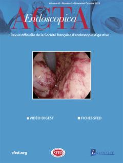 Couverture de l'ouvrage Acta Endoscopica Vol. 45 N° 5 - Octobre 2015
