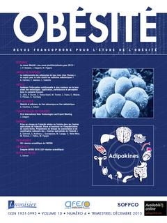 Couverture de l'ouvrage Obésité. Vol. 10 N° 4 - Décembre 2015