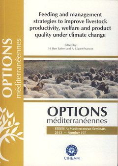 Couverture de l'ouvrage Feeding and management strategies to improve livestock productivity, welfare and product quality under climate change