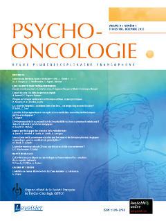 Couverture de l'ouvrage Psycho-Oncologie Vol. 9 N° 4 - décembre 2015