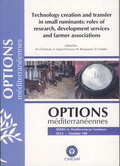 Couverture de l'ouvrage Technology creation and transfert in small ruminants : roles of research, development services and farmer associations
