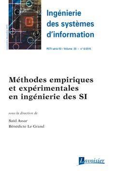 Couverture de l'ouvrage Ingénierie des systèmes d'information RSTI série ISI Volume 20 N° 6/Novembre-Décembre 2015