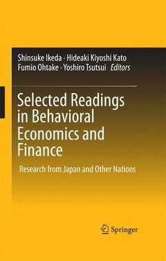 Couverture de l'ouvrage Selected Readings in Behavioral Economics and Finance