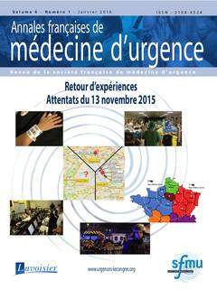 Couverture de l'ouvrage Annales françaises de médecine d'urgence Vol. 6 n°1 - Janvier-Février 2016