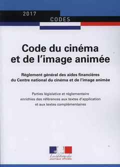 Couverture de l'ouvrage Code du cinéma et de l'image animée - n° 20066