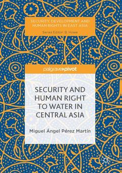 Cover of the book Security and Human Right to Water in Central Asia