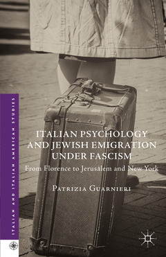 Cover of the book Italian Psychology and Jewish Emigration under Fascism
