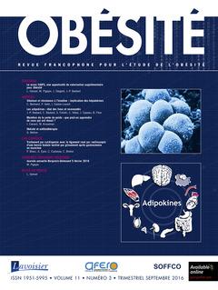 Couverture de l'ouvrage Obésité. Vol. 11 N° 3 - Septembre 2016