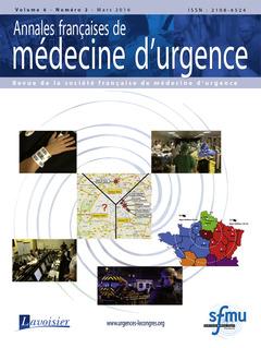 Couverture de l'ouvrage Annales françaises de médecine d'urgence Vol. 6 n°2 - Mars-Avril 2016