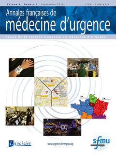 Couverture de l'ouvrage Annales françaises de médecine d'urgence Vol. 6 n°5 - Septembre-Octobre 2016